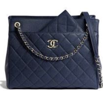 CHANEL TIMELESS CLASSICS 2WAY Chain Plain Leather Office Style Elegant Style Totes