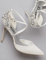 Vera Wang Flower Patterns Plain Pin Heels Party Style Elegant Style