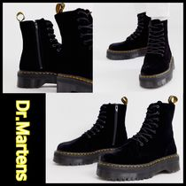Dr Martens Plain Toe Mountain Boots Street Style Plain Leather