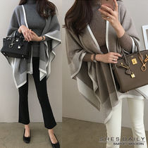 Wool Cashmere Medium Ponchos & Capes