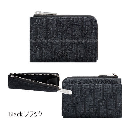 Christian Dior Long Wallet  Unisex Card Holders