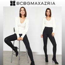 BCBG MAXAZRIA Casual Style Nylon Plain Long Skinny Pants