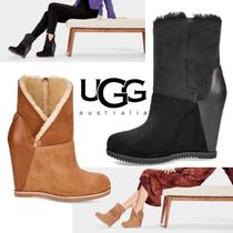 UGG Australia Suede Plain Wedge Boots