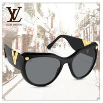Louis Vuitton Unisex Studded Dark Brown Sunglasses