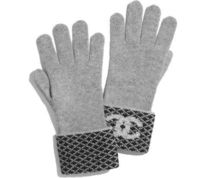 CHANEL Other Check Patterns Cashmere Blended Fabrics Gloves Gloves