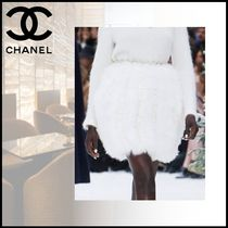 CHANEL Short Casual Style Party Style Skirts