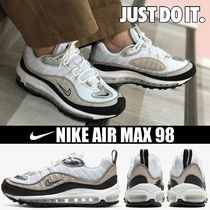 Nike AIR MAX 98 Platform Round Toe Casual Style Blended Fabrics Street Style