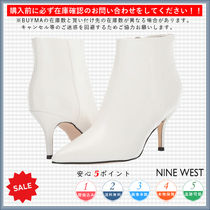 Nine West Casual Style Plain Pin Heels Ankle & Booties Boots