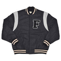 FEAR OF GOD ESSENTIALS Unisex Wool Street Style Logo Varsity Jackets