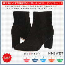 Nine West Casual Style Plain Chunky Heels Ankle & Booties Boots