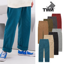 TWN Unisex Street Style Plain Cotton Khaki Pants