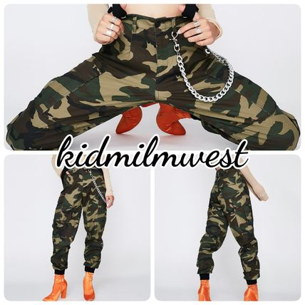 Camouflage Casual Style Street Style Cotton Long Khaki Pants