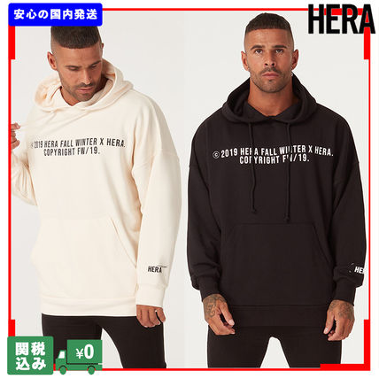 Pullovers Unisex Sweat Street Style Long Sleeves Plain