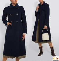Weekend Max Mara Wool Plain Medium Midi Office Style Elegant Style Peacoats