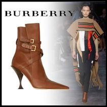 Burberry Casual Style Plain Elegant Style Ankle & Booties Boots