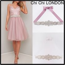 Chi Chi London Blended Fabrics Plain With Jewels Party