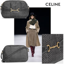 CELINE Casual Style Leather Party Style Office Style Python