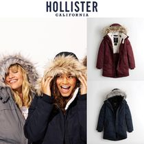 Hollister Co. Unisex Faux Fur Street Style Long Parkas