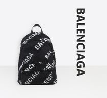 BALENCIAGA EVERYDAY TOTE Monogram Casual Style Unisex Nylon A4 Backpacks
