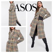 ASOS Short Tartan Other Check Patterns Long Chester Coats