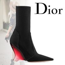 Christian Dior Casual Style Plain Elegant Style Wedge Boots