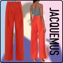 JACQUEMUS Casual Style Plain Long Wide Leg Pants