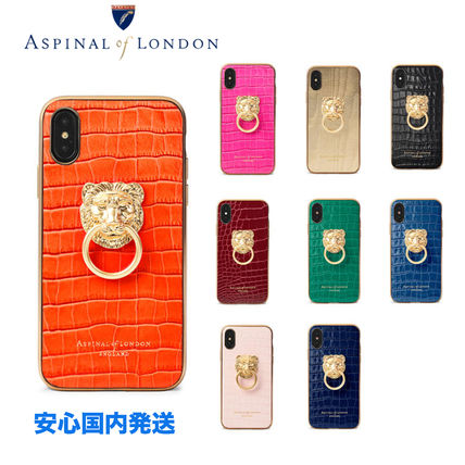 Plain Leather iPhone XS Smart Phone Cases
