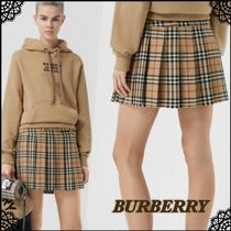 Burberry Short Other Check Patterns Wool Skirts