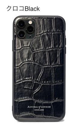 Plain Leather iPhone 11 Pro Smart Phone Cases