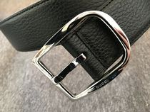 GUCCI Plain Leather Belts