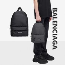 BALENCIAGA Casual Style Unisex Nylon A4 Backpacks