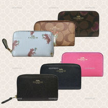 Coach Plain Leather Coin Purses