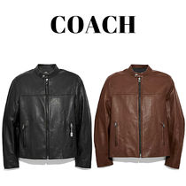 Coach Leather Biker Jackets