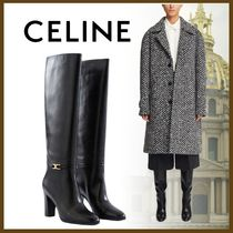 CELINE Plain Toe Casual Style Plain Party Style Office Style