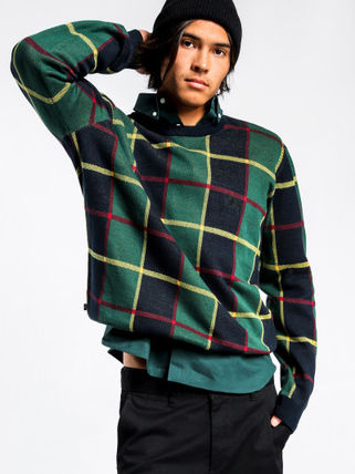 STUSSY Knits & Sweaters Crew Neck Street Style Long Sleeves Cotton Knits & Sweaters 2