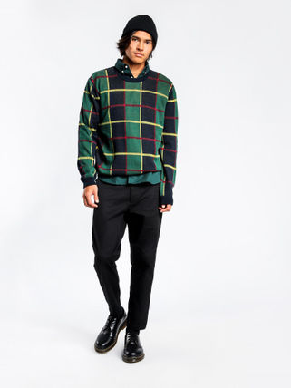 STUSSY Knits & Sweaters Crew Neck Street Style Long Sleeves Cotton Knits & Sweaters 5