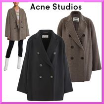 Acne Wool Plain Medium Peacoats