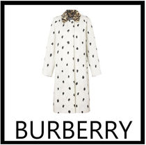 Burberry Casual Style Other Animal Patterns Long Elegant Style Coats