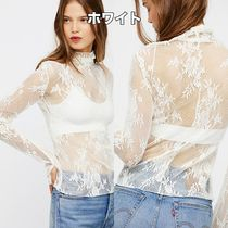 Free People Flower Patterns Long Sleeves Medium Lace Long Sleeve T-shirt