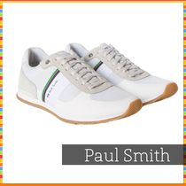 Paul Smith Stripes Suede Street Style Leather Sneakers