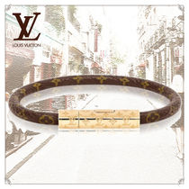 Louis Vuitton MONOGRAM Bangles Casual Style Unisex Leather Office Style