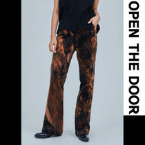 OPEN THE DOOR Casual Style Street Style Bi-color Long Oversized