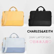 Charles&Keith Casual Style 2WAY Plain Office Style Logo Bags