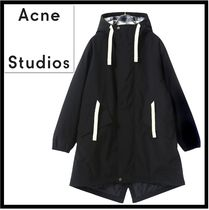 Acne Street Style Plain Long Oversized Parkas