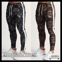 VANQUISH FITNESS Tapered Pants Camouflage Street Style Cotton Khaki