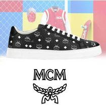 MCM Street Style Plain Leather Sneakers