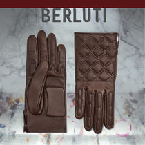 Berluti Silk Leather Leather & Faux Leather Gloves