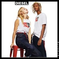 DIESEL Unisex Collaboration Cotton Short Sleeves T-Shirts