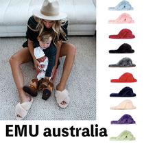 EMU Australia Casual Style Sheepskin Plain Slippers Slip-On Shoes
