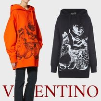 VALENTINO Collaboration Cotton Oversized Logo Hoodies & Sweatshirts
